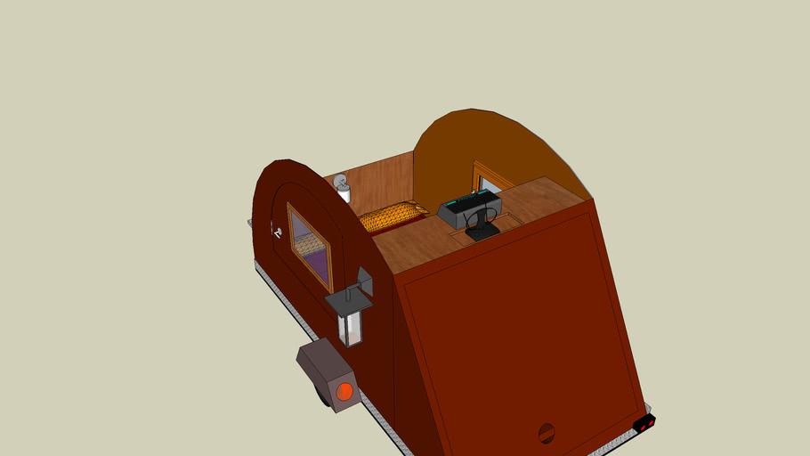 Teardrop Bed Interior