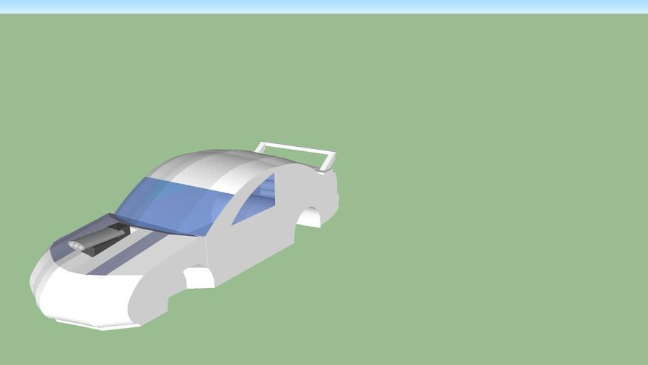 car body with v8 engine