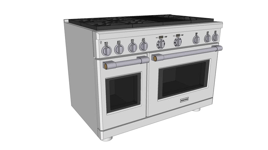 """48"""" Dual-Fuel Professional Range with 6 Burners and Grill"""