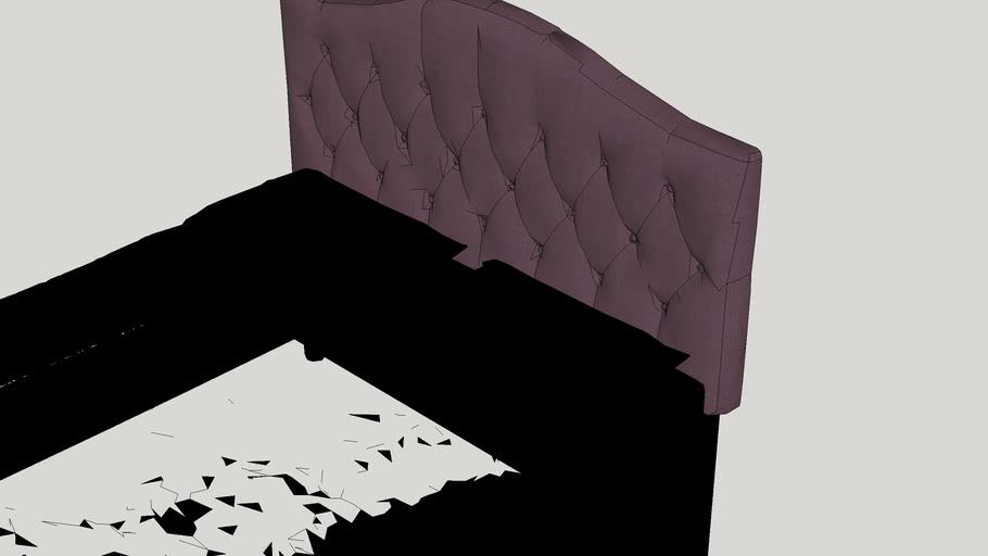 Kara Hanover Arched Upholstered Panel Headboard