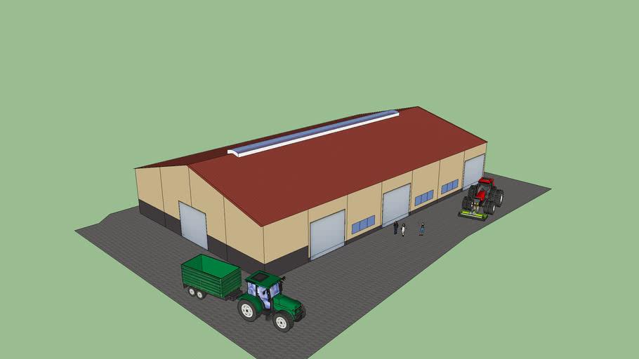 Landwirtschftliche Maschinen- und Getreidehalle SHO2500x42m