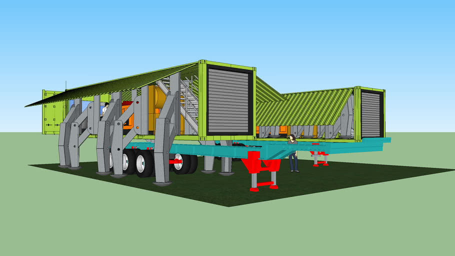 mobile walker container structure MK2