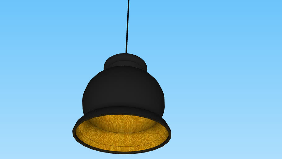 hanging light- hammered metal, matte black