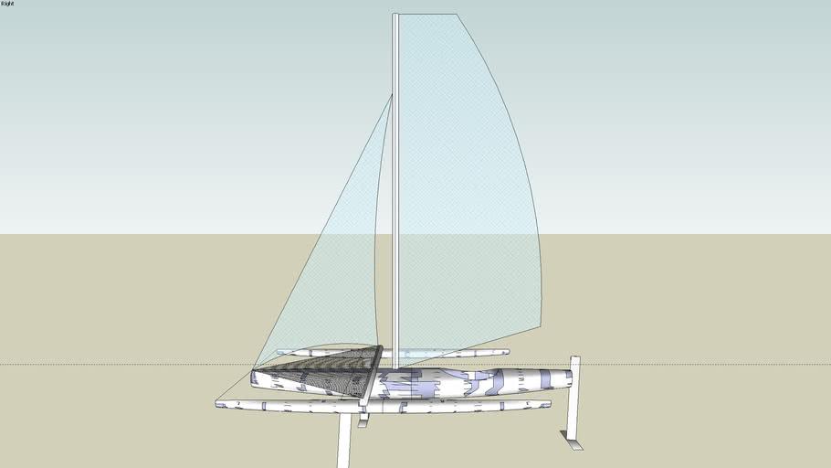 Hydro-foil trimaran