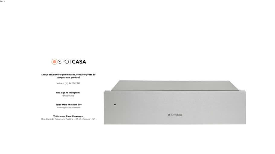 Gaveta Aquecida Inox 15cm 220V Elettromec