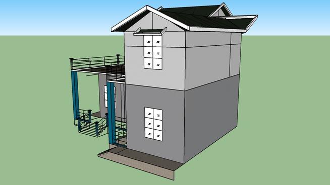 我自己设计家里简单的几间房子