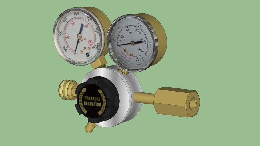 Safety First Series - Equipment - Supplied Breathing Air System - CGA-346 Pressure Regulator