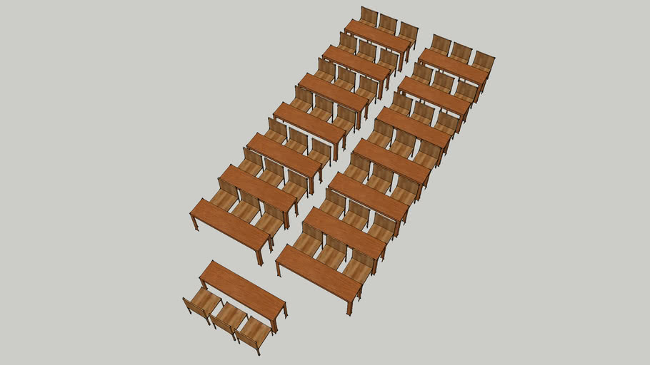 Classroom Style 15 tables with 45 Chairs SUU
