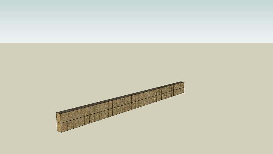 CE450 HESCO wall 105x3x8