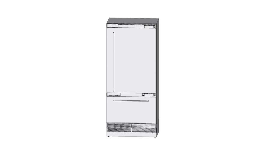 Miele 36 inch bottom mouint fridge-freezer