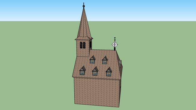 Historische Kirche auf Burg Lichtenberg