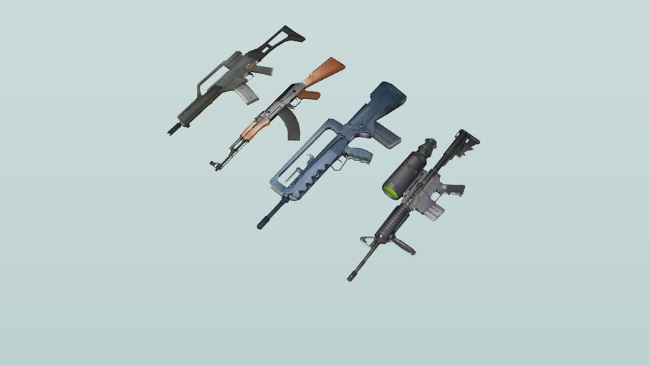 Coasterdude's assorted weapons 2 textured