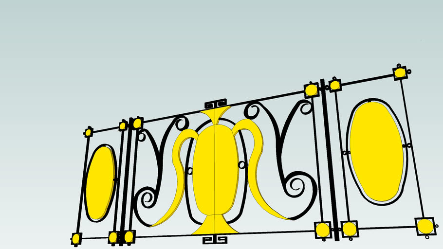 Titanic staircase's railing details