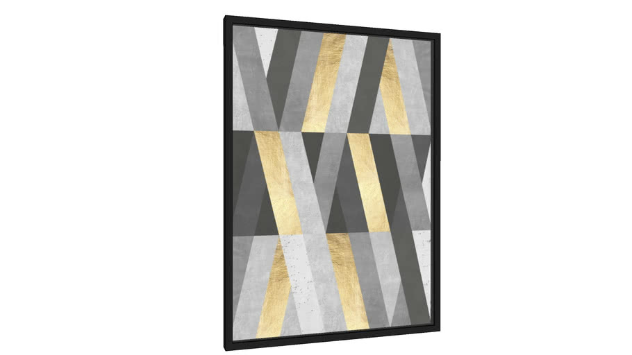 Quadro Traços cinza e ouro I - Galeria9, por Arte Decor