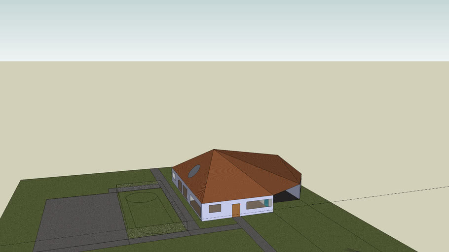 house with sports oval