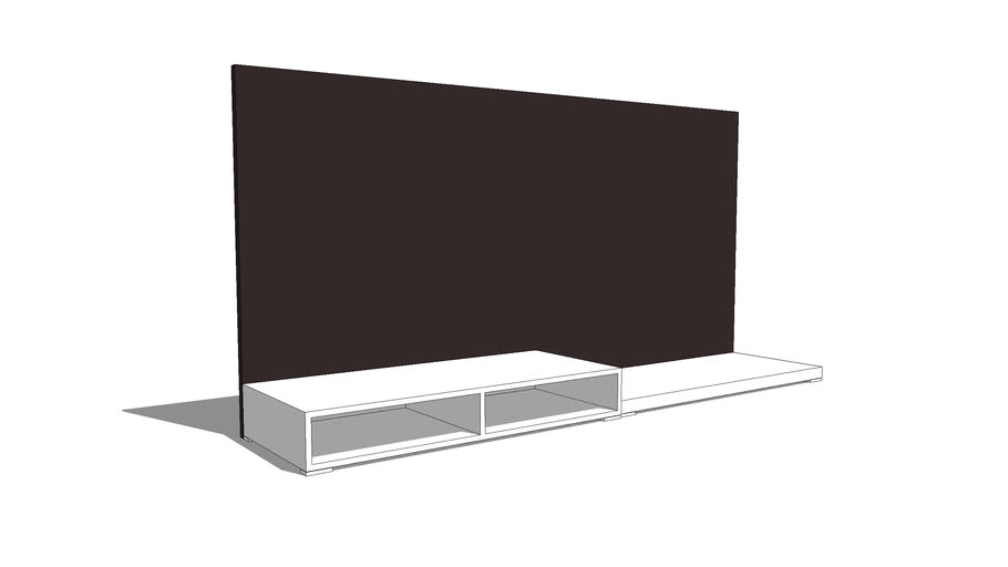 entertainment unit + feature wall
