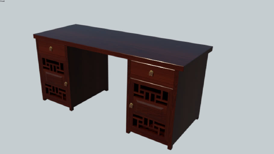 Classic work table Vray 3.4