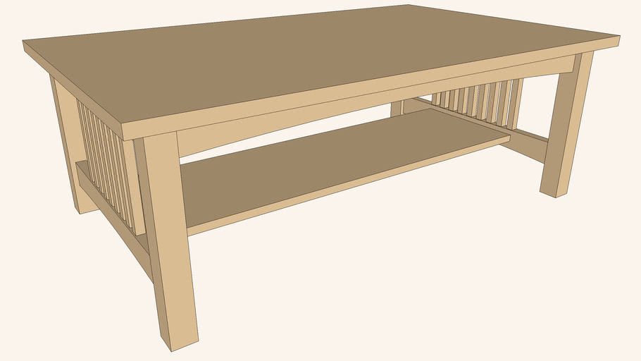 Mission-Style Coffee Table