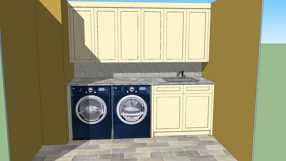 Laundry Room Cabinets 3d Warehouse