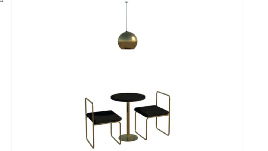 Minimalist table and chairs set