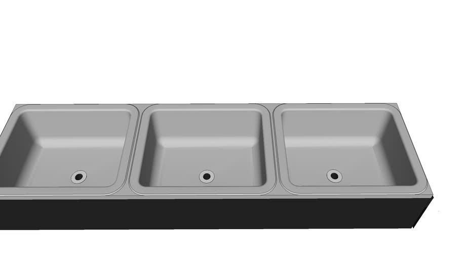 3 sinks