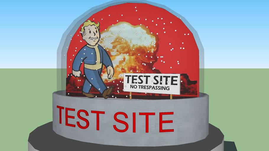 Fallout Snowglobe : Test Site