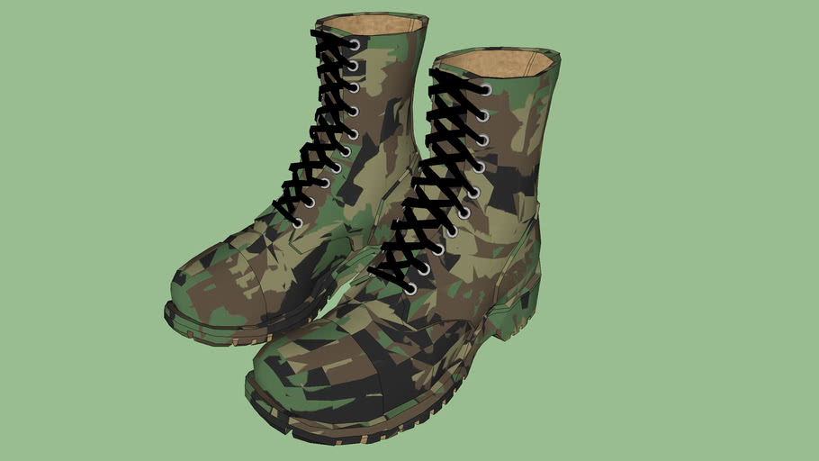 "Safety First Series - Boot - Military / Work Boot - 9"" - Dk. Camo Green"