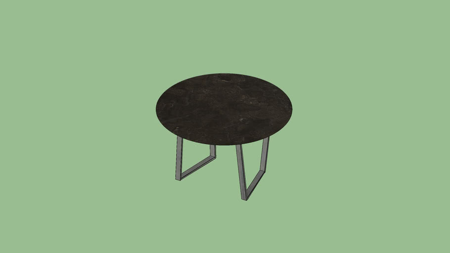 Dritto Side & Coffee Table diameter 60 Pietra d'Avola