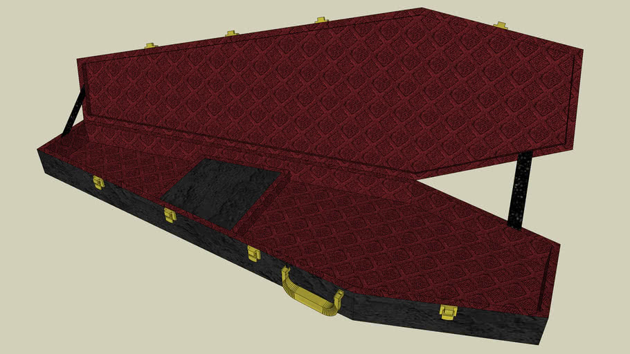 Coffin Case B 195 Universal Bass Case with Red Interior