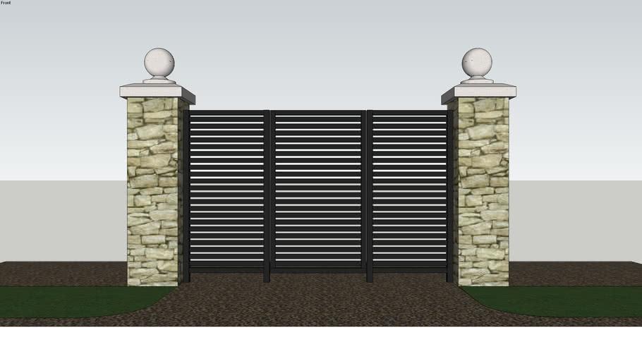 Horizontal Panel Gate & Fencing