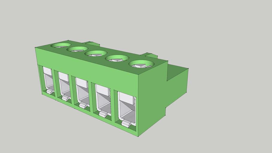 KEFA HT508k Terminal block female plug 5 terminal