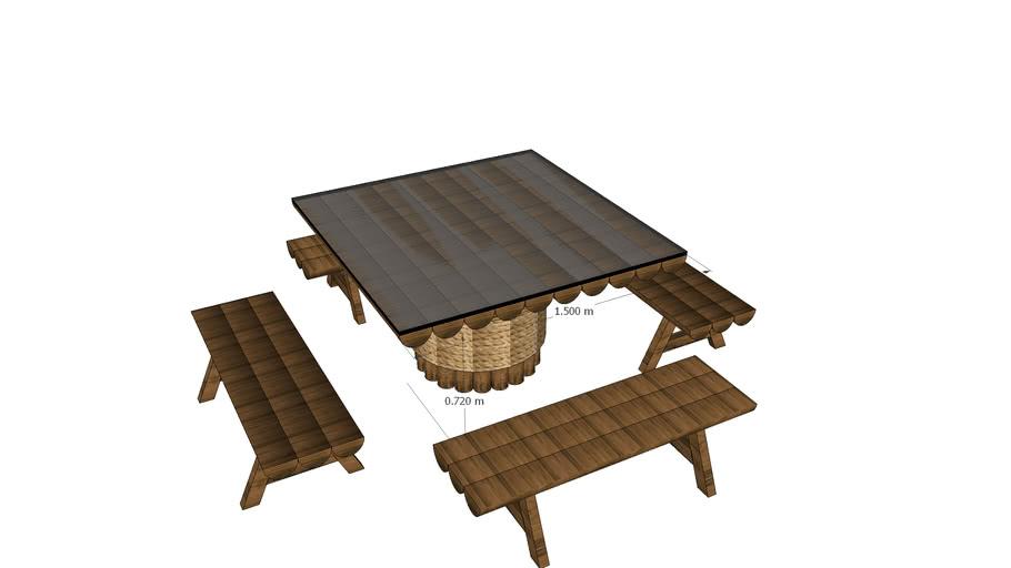 mesa eucalipto DeniseSecco
