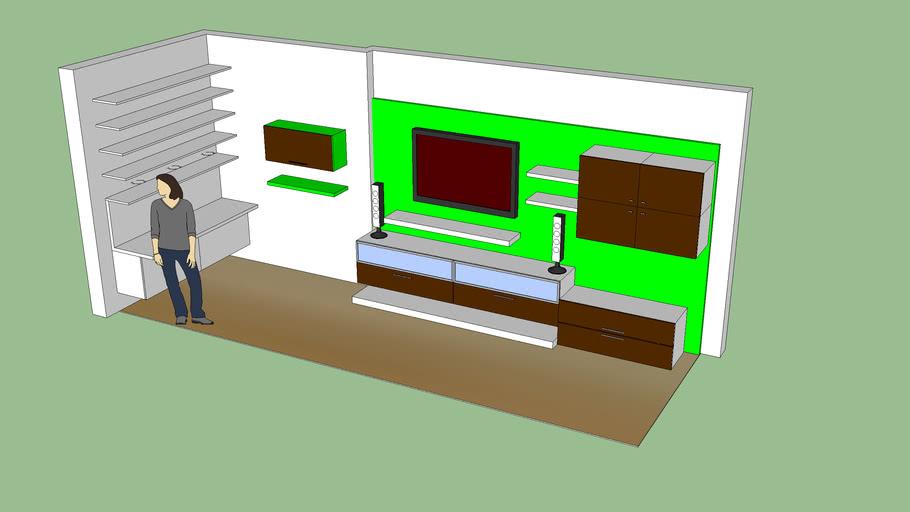 Conjunto de muebles de pared para TV