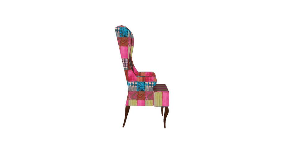 76954 Wing Chair Patchwork Velvet (Ohrensessel Patchwork Velvet)