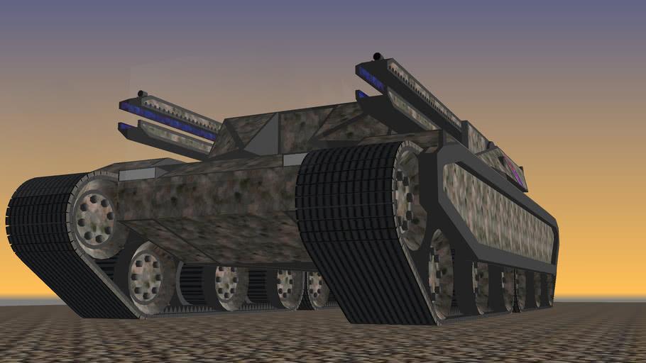 Sci fi artillary tank
