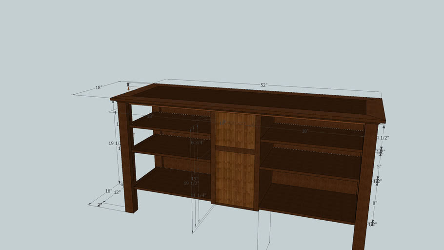"""Stand for 54"""" Widescreen TV (WIP)"""