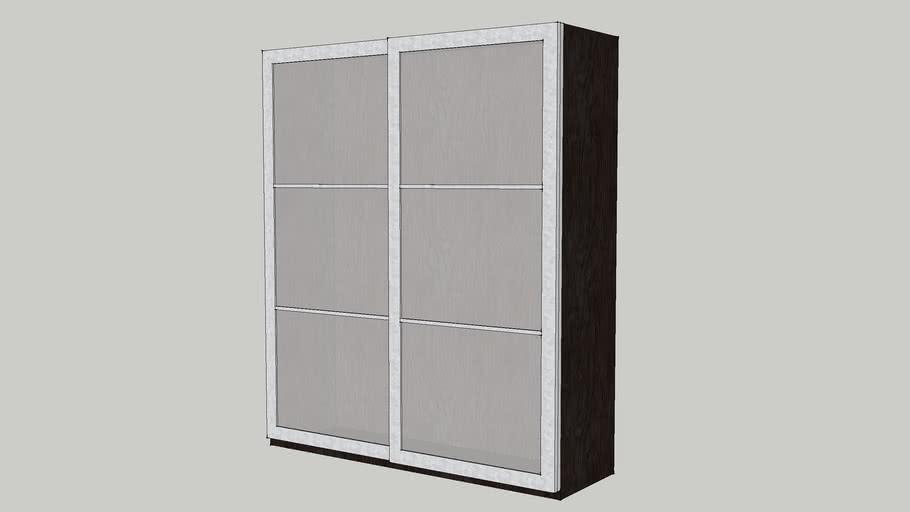 Ikea Pax Kleiderschrank Mit Schiebeturen 3d Warehouse