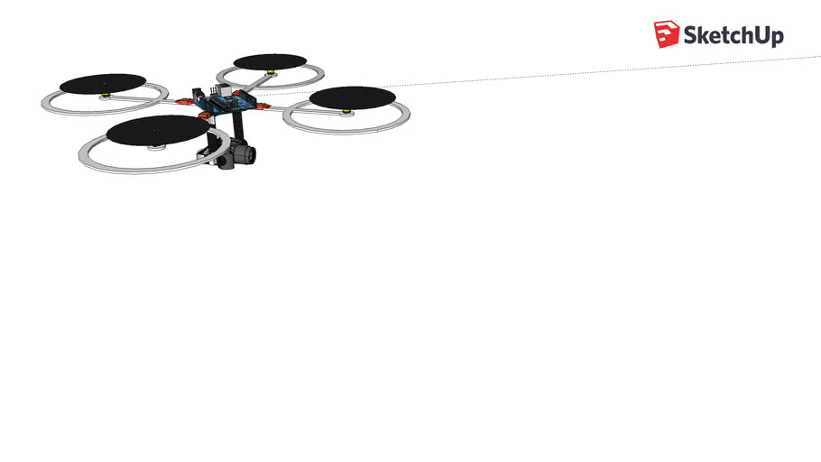 Copy of quadcopter with prop protection/landing gear