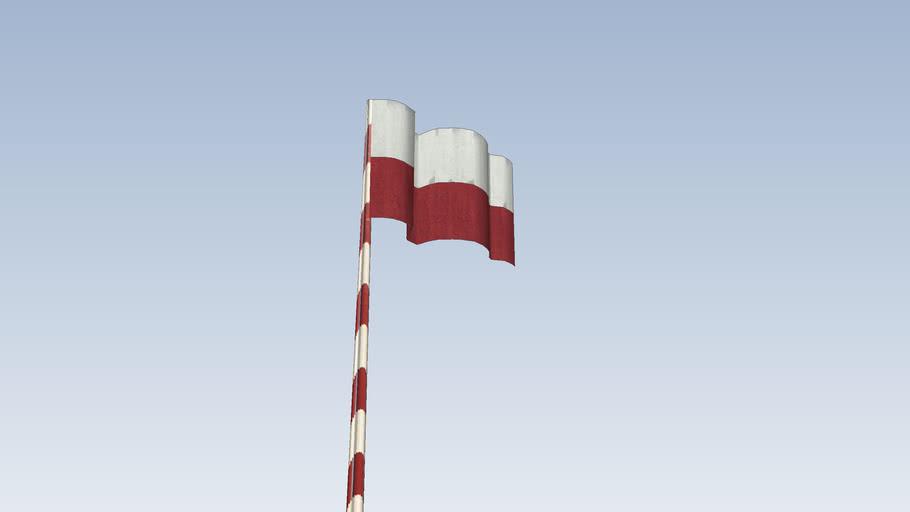 Flaga narodowa przy OSP w Boguszowie  Gorcach z okazji Święta Niepodległości