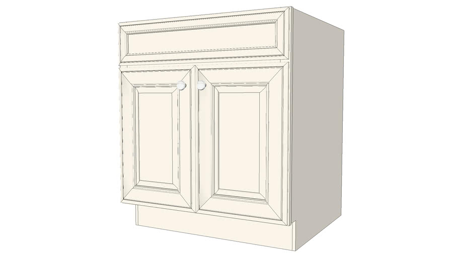 Base Cabinets - Jamison Maple Canvas Paint by KraftMaid® Cabinetry
