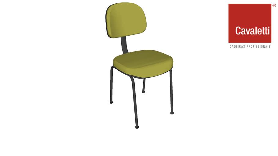 Cadeira Fixa sem braço Start 4008 P - Cavaletti