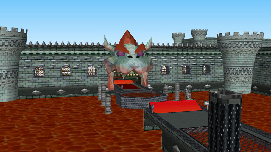 Bowser's Castle (N64) Remake MKWII Custom Track