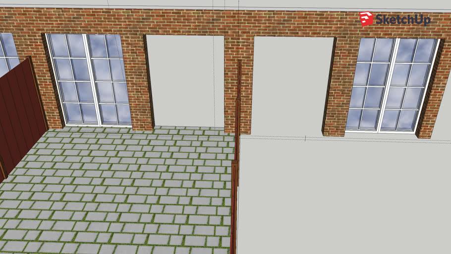 Window and double door