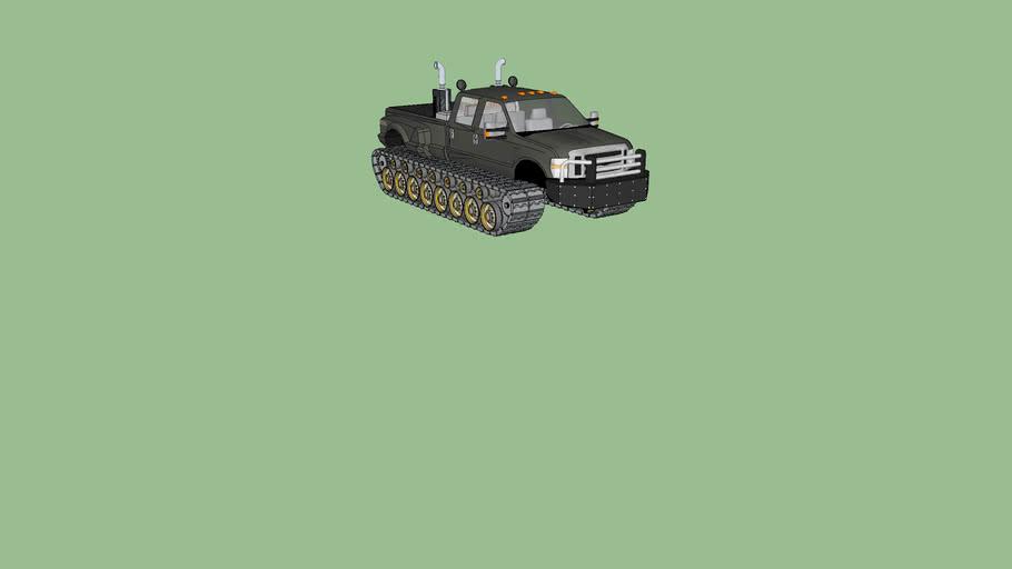 F 550 w/ tank treads and ram guard