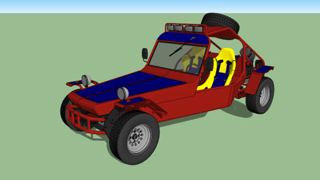 Gaiola Cross TTM AP2000 2 0 VW Dune Buggy | 3D Warehouse