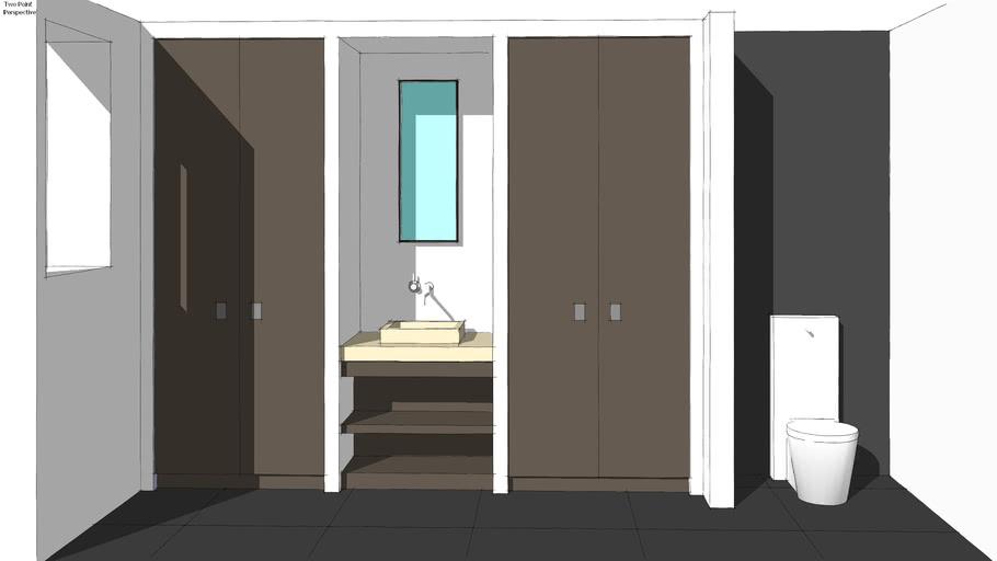 Stadionweg toilet garderobe vestibule fontein