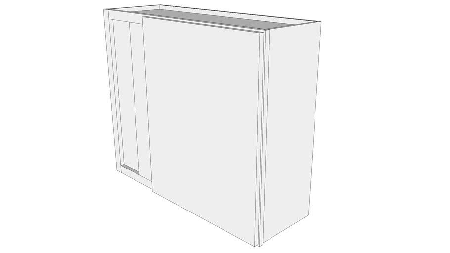 "Glenwood Wall Cabinet WBC3630 - 12"" Deep, Wall Blind Corner Cabinet, One Door"