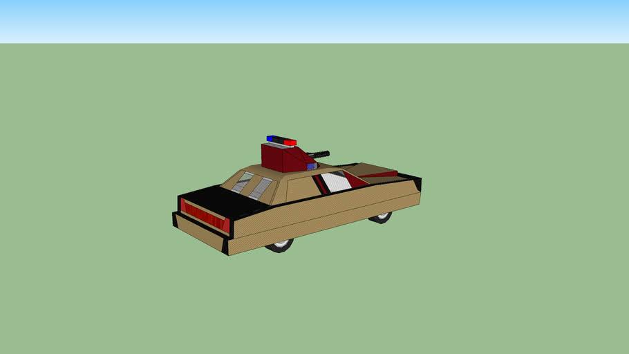 voiture de policier blindé