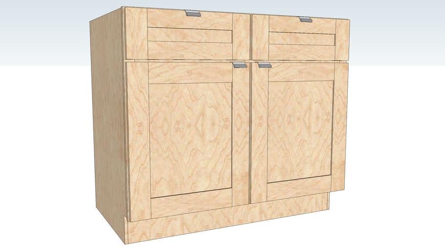 Base Double Door Double Drawer