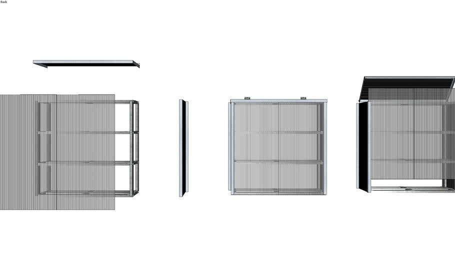 gabinete para banco de baterias exterior